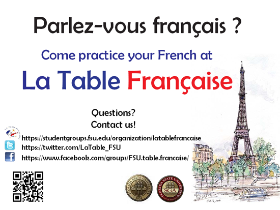 Practice your French at La Table - Image