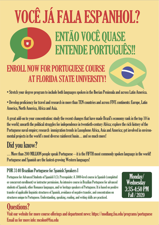 Portuguese Department Of Modern Languages And Linguistics